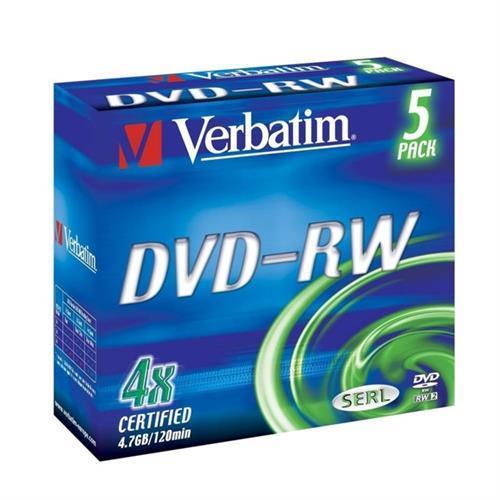 Dvd-rw Verbati. 4x 4,7gb Advanced-pack5