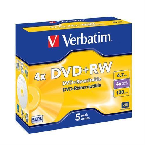 Dvd+rw Verbati. 4x 4,7gb Advanced-pack5