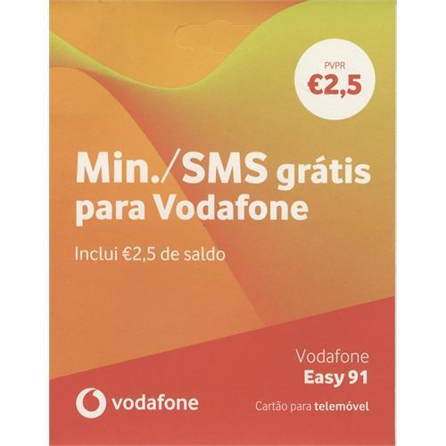 Cartão Vodafon. Easy 91 2,50