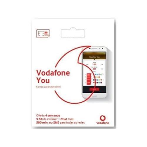 Cartão Vodafon. Vodafone You 3gb 9,90