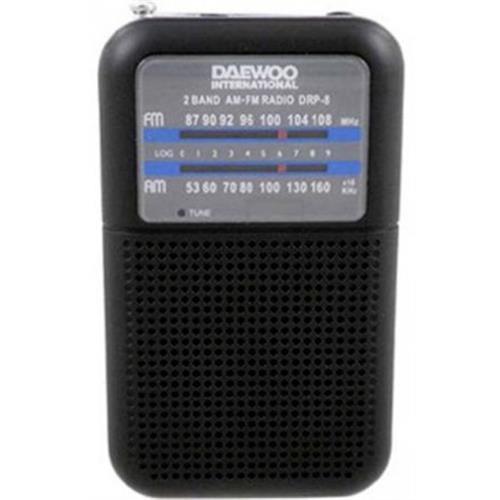 Radio Daewoo Port. Am / Fm-preto -drp8b