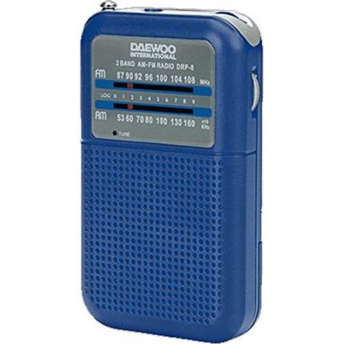 Radio Daewoo Port. Am / Fm-azul -drp8bl