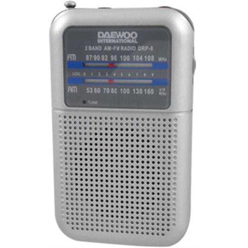 Radio Daewoo Port. Am / Fm-prata -drp8g