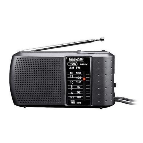 Radio Daewoo Port. Am / Fm-preto -drp14
