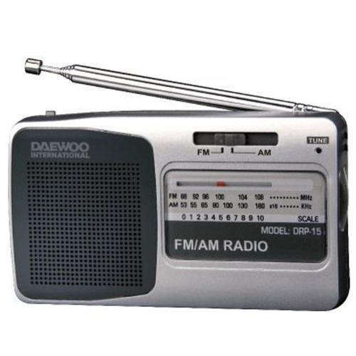Radio Daewoo Port. Am / Fm-silver -drp15