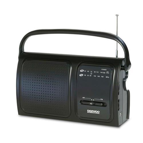 Radio Daewoo Port. Am / Fm-preto -drp19